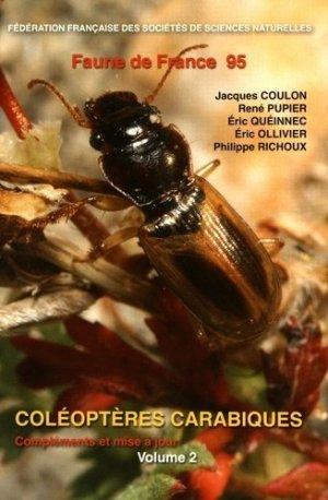 Coléoptères Carabiques - federation francaise des societes de sciences naturelles - 9782903052348 -