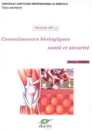 Connaissances biologiques santé et sécurité Module MC3 CAPA Tous secteurs - doceo - 9782909662787 -