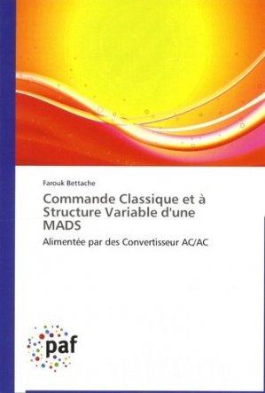 Commande classique et à structure variable d'une MADS - universitaires europeennes - 9783838170107 -