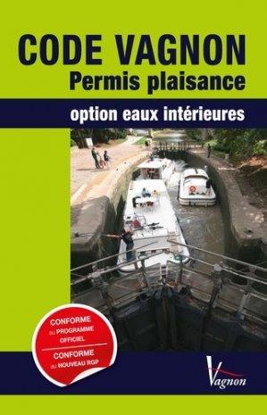 CODE VAGNON Permis plaisance option eaux intérieures et son Mémento de révision - vagnon - 9791027101115 -
