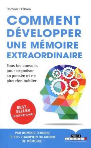 Comment développer une mémoire extraordinaire - leduc - 9791028504410 -