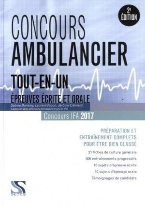 Concours ambulancier 2016-2017 tout en un - setes - 9791091515429 -
