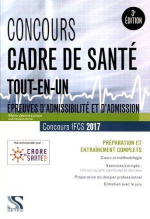 Concours cadre de santé 2017 - Tout-en-un - setes - 9791091515467 -