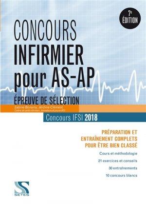 Concours Infirmier pour AS-AP 2018 - setes - 9791091515689 -