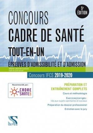 Concours cadre de santé 2019 - 2020 - setes - 9791091515788 -