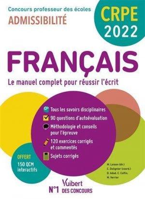CRPE - Concours Professeur des écoles - Français - Vuibert - 9782311210743 -