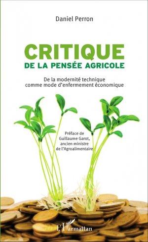 Critique de la pensée agricole - l'harmattan - 9782343086095