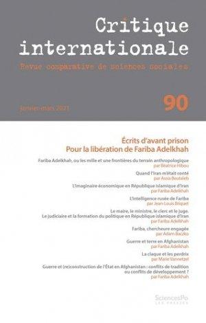 Critique internationale N° 90 - sciences po les presses - 9782724636734 -