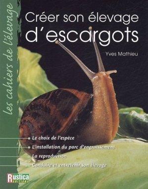 Créer son élevage d'escargots - rustica - 9782840385929 -