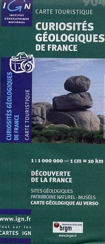 Curiosités géologiques de France Carte géologique simplifiée - brgm / ign - 3282110090417 -