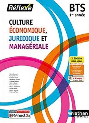 Culture économique juridique et managériale - BTS 1re année - nathan - 9782091672847 -
