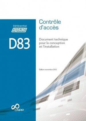 D83 - Contrôle d'accès - cnpp - 9782355050930 -