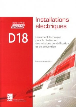 D18 - Installations électriques - cnpp - 9782355051128 -