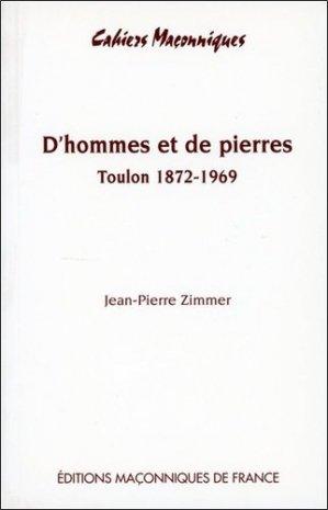 D'hommes et de pierres - Editions maçonniques de France - 9782847210224 -