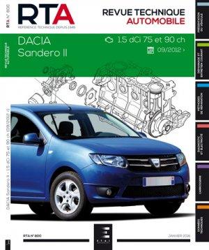 DACIA SANDERO II:1.5 DCI (75 et 90ch) depuis 10/2012 - etai - editions techniques pour l'automobile et l'industrie - 9782726879153 -