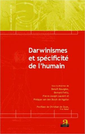 Darwinismes et spécificité de l'humain - academia bruylant - 9782806100757 -