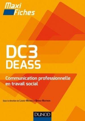 DC3 DEASS Communication professionnelle en travail social - dunod - 9782100750245 -