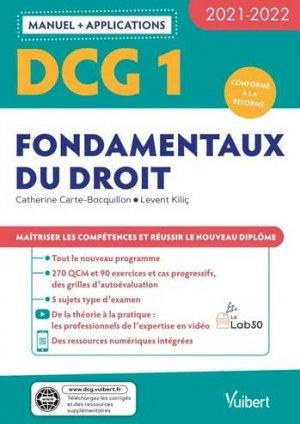 DCG 1 - Fondamentaux du droit : Manuel - Applications 2021-2022 - Vuibert - 9782311404425 -