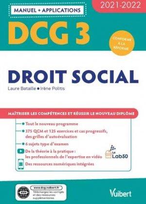 DCG 3 - Droit social : Manuel et Applications 2021-2022 - Vuibert - 9782311404449 -