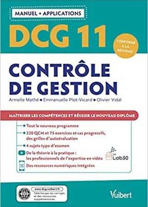 DCG 11- Contrôle de gestion : Manuel et Applications - Vuibert - 9782311405866 -
