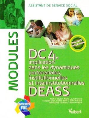 DC 4. Implication dans les dynamiques partenariales, institutionnelles et interinstitutionnelles DEASS - vuibert - 9782711716364