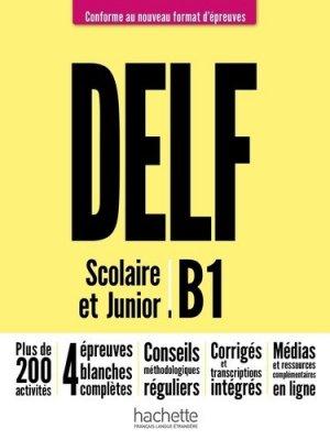 Delf scolaire et junior b1 + audio en téléchargement - hachette français langue etrangere - 9782016286418 -