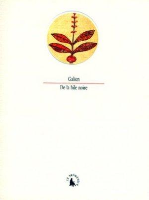 De la bile noire - gallimard editions - 9782070751655 -