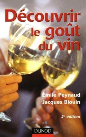 Découvrir le goût du vin - dunod - 9782100494200 -