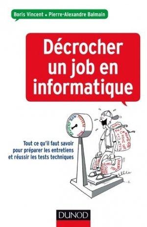 Décrocher un job en informatique - dunod - 9782100722617 -