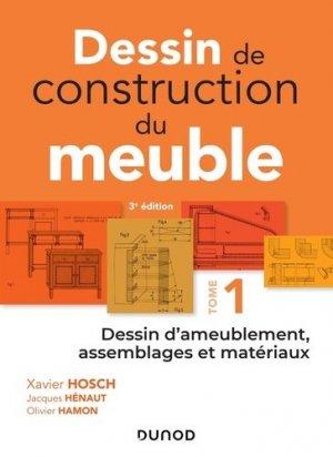 Dessin de construction du meuble - Tome 1 - dunod - 9782100781287