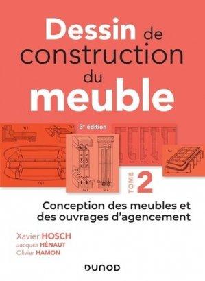 Dessin de construction du meuble - Tome 2 - dunod - 9782100781294 -