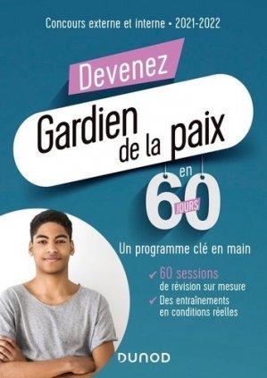 Devenez gardien de la paix en 60 jours - Dunod - 9782100805389 -
