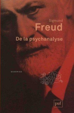 De la psychanalyse - puf - presses universitaires de france - 9782130803461 -