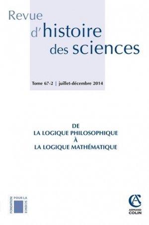 De la logique philosophique à la logique mathématique - Armand Colin - 9782200929206 -