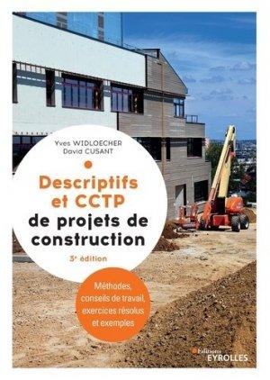 Descriptifs et CCTP de projets de construction. Manuel de formation initiale et continue - Eyrolles - 9782212679380 -