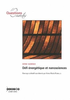 Défi énergétique et nanosciences - crdp poitiers - 9782240033772 -