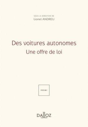 Des voitures autonomes : Une offre de loi - dalloz - 9782247185603 -