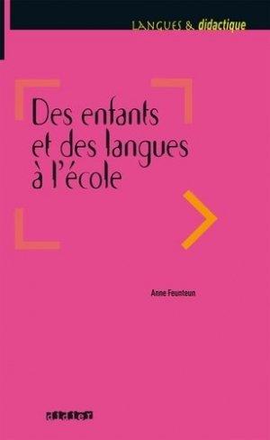 Des Enfants et des Langues à l'École - didier - 9782278082537
