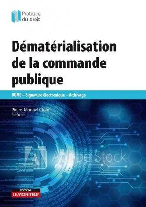 Dématérialisation de la commande publique - groupe moniteur - 9782281133820 -
