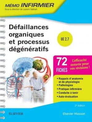Défaillances organiques et processus dégénératifs UE 2.7 - elsevier / masson - 9782294749216 -