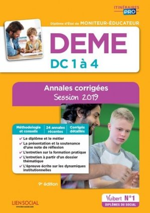 DEME - Épreuves de certification DC 1 à 4 - Annales corrigées 2019 - vuibert - 9782311205824 -