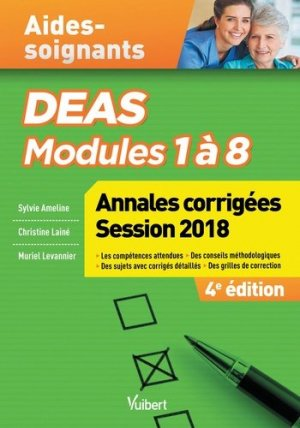 DEAS - Annales corrigées 2018 - vuibert - 9782311206135 -