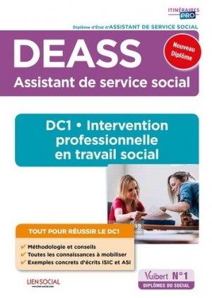 DEASS - DC1 Intervention professionnelle en travail social - vuibert - 9782311209457 -