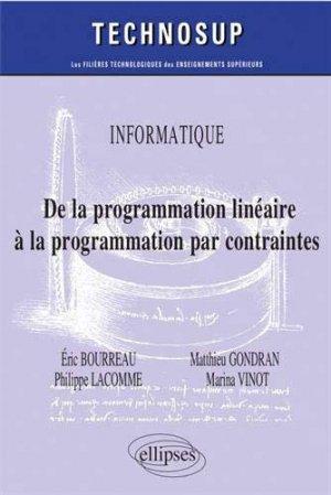 De la programmation linéaire à la programmation par contraintes - ellipses - 9782340029460 -