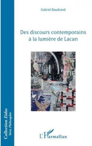 Des discours contemporains à la lumière de Lacan - l'harmattan - 9782343181301