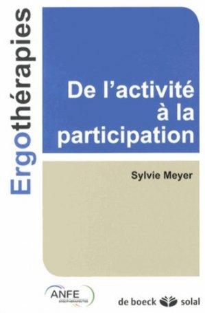 De l'activité à la participation - de boeck superieur - 9782353271856 -