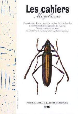 Description d'une nouvelle espèce de la tribu des Callichromatini originaire du Kenya : Promeces masai sp. nov. - magellanes - 9782353870424 -