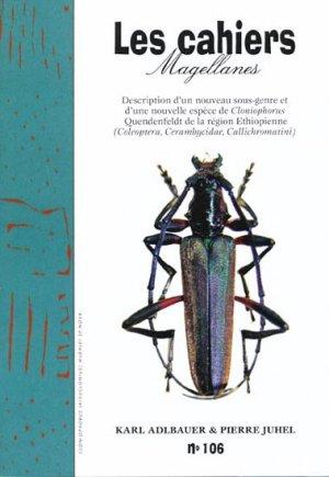 Description d'un nouveau sous-genre et d'une nouvelle espèce de Cloniophorus Quendenfeldt de la région Ethiopienne - magellanes - 9782353870622 -