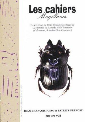 Description de trois nouvelles espèces de Catharsius de Zambie et de Tanzanie - magellanes - 9782353870639 -