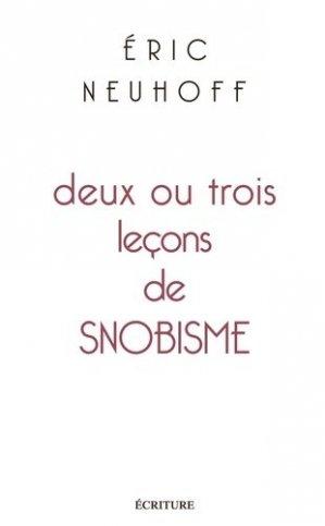 Deux ou trois leçons de snobisme - L'Archipel - 9782359052121 -